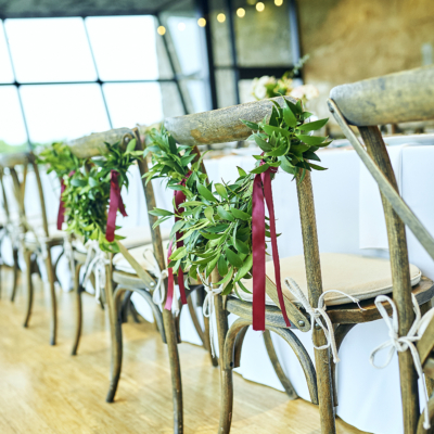 Wedding Reception Chair Garland