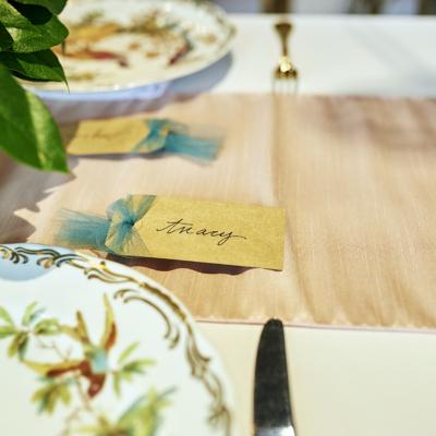 Organic Style Wedding Table Setting