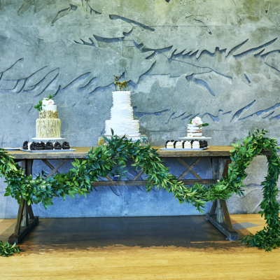 Organic Style Wedding Cake Table