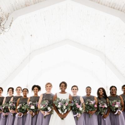 Wedding Design Rustic Bridal Party